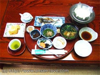 朝食の料理の写真