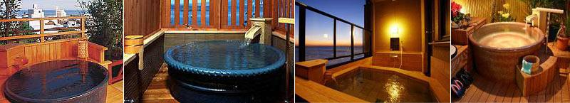 お部屋に露天風呂が付いている温泉旅館・宿の写真